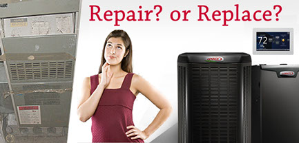 repair or service the furnace?